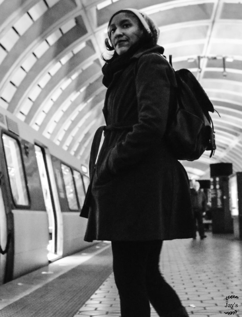 Kristen Jeffers in February 2017 at Mount Vernon Square-7th Street Convention Center Station in Washington, D.C. Photo by Jay's Fine Art Photography